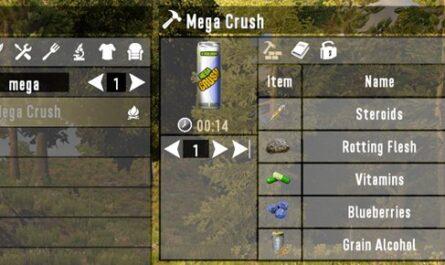 7 days to die craft mega crush, 7 days to die drinks, 7 days to die food