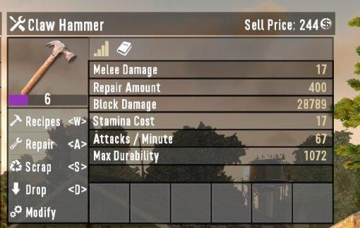 7 days to die mighty claw hammer additional screenshot