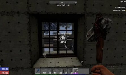 7 days to die opening windows and glass doors, 7 days to die windows, 7 days to die doors, 7 days to die building materials