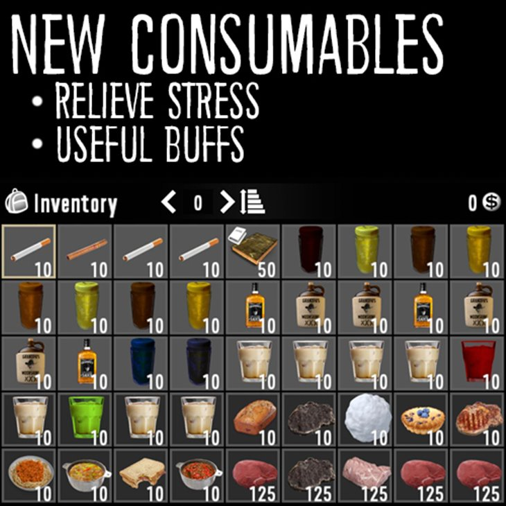7 days to die stressed out, 7 days to die recipes, 7 days to die farming, 7 days to die drinks, 7 days to die food