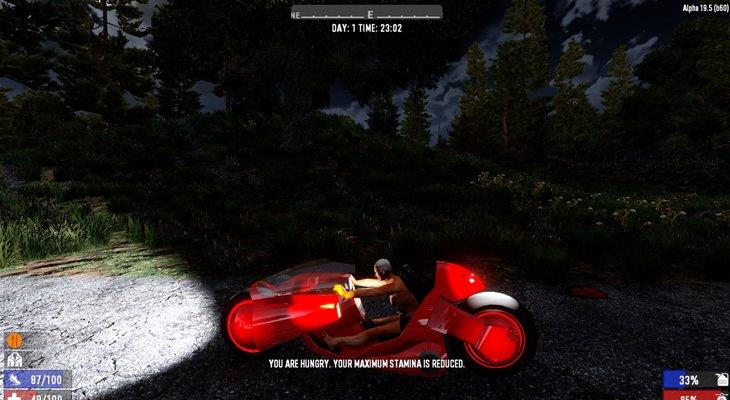 7 days to die TechnoBike mod, 7 days to die motorcycle, 7 days to die vehicles