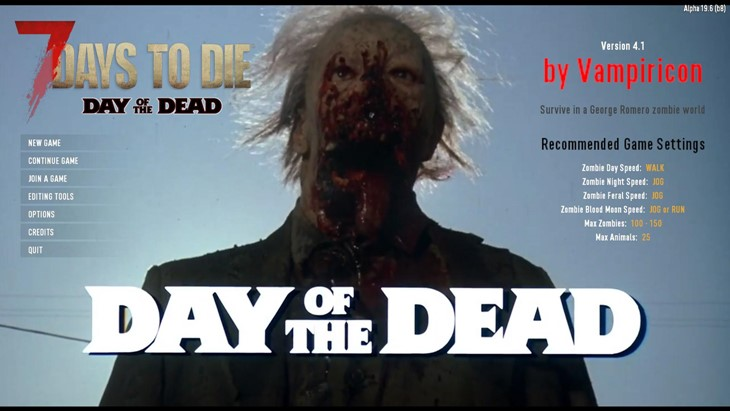 7 days to die day of the dead mod, 7 days to die overhaul mods