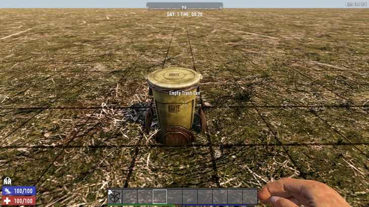 7 days to die working trash can